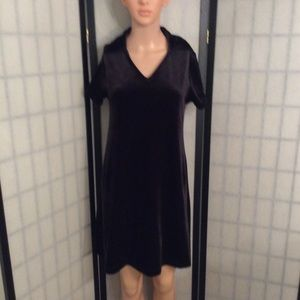 Vintage 90's Express Thick Velour Mini Dress